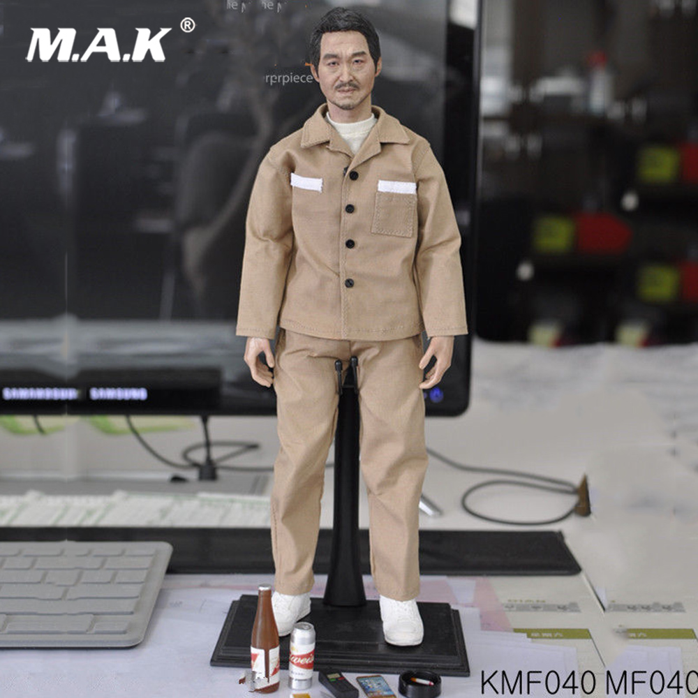 Custom KUMIK KMF040 1/6 Scale Asian Male head body Action Figure Full Set Toy купить недорого в Москве