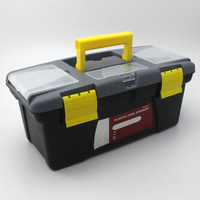 Double Plastic Small Toolbox Portable Electrician Parts Storage Boxes Household Gadget Organizer Box Large Capacity Organizers