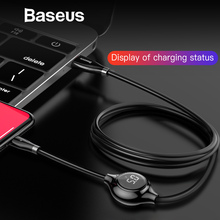 Baseus Real Time Digital Display USB Cable for iPhone Xs Max X 8 Plus 1.2M Magnetic Sheet Charging Data Cord for IOS 8 Pin kablo