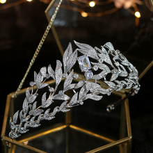 Fashion Wedding Tiaras 2018 Leaf Crystals Design Bridal Crown Baroque Novia Bride Jewelry Hair Accessories