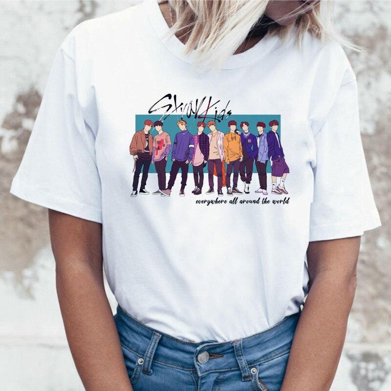 Stray Kids I am Who Korean   t     shirt     t  -  shirt   tshirt women female femme clothes harajuku top tee   shirts   summer streetwear ulzzang