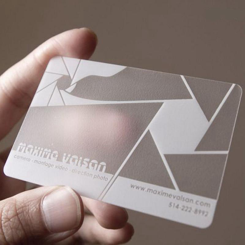 Custom Business Card Printing Transparent Plastic Business Cards ...