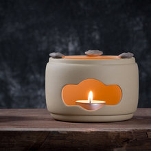 Japanese-style Ceramic Warmer Warm Tea Stove Candle Heater Insulation Base Alcohol Stove / Teapot Holder Shelf Night Light Lamp(China)