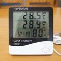 Termómetro Digital Ketotek higrómetro electrónico LCD temperatura humedad medidor estación meteorológica reloj exterior Interior HTC-2