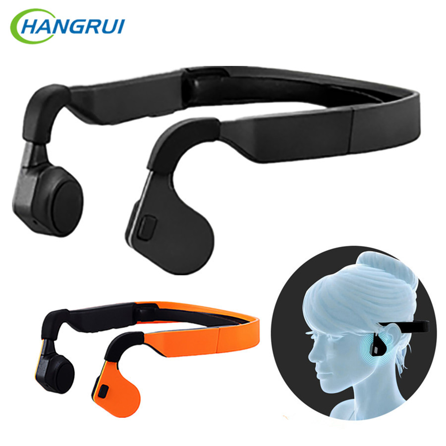 HANGRUI Bone Conduction Bluetooth Earphone Wireless Headphones with mic Sport bluetooth headset Handsfree Call workout earbuds ravi a8 wireless bluetooth earbuds airpods with usb car charger handsfree bluetooth earphone with mic for smartphone dd