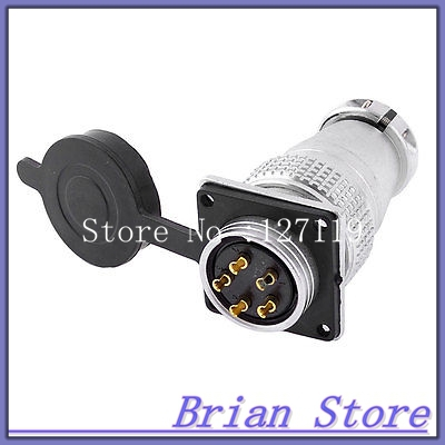 AC 400V 25A 5Pin Electric Deck Aviation Connector Adapter Plug Y28-5  цены