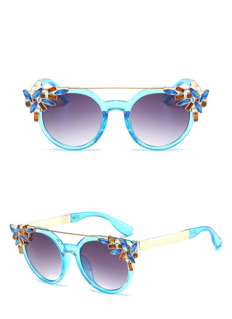 Perle Runde Sonnenbrille Frauen Marke Designer Diamant sonnenbrille ...
