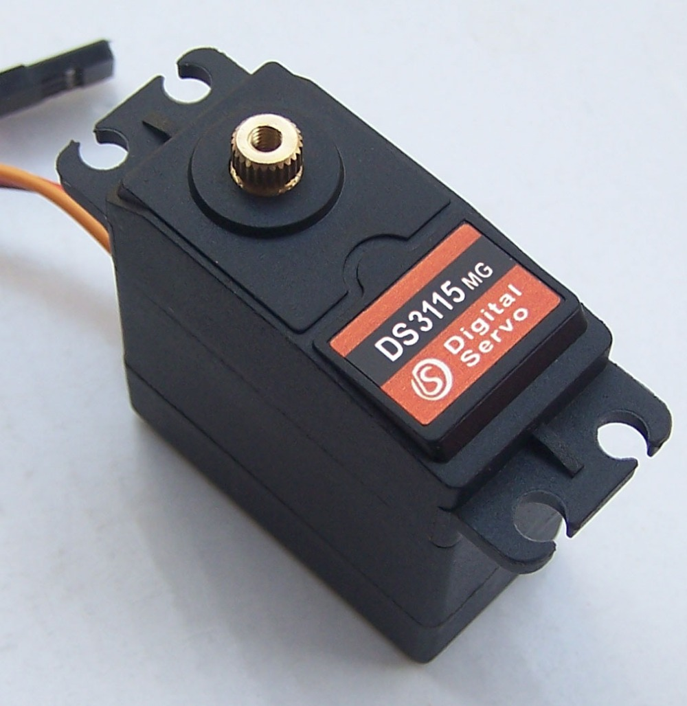 1X free shipment Original factory High Torque Servo 15kg DS3115 Servo Metal gear servo For rc car boat plane 35kg high torque coreless motor servo rds3135 180 deg metal gear digital servo arduino servo for robotic diy rc car