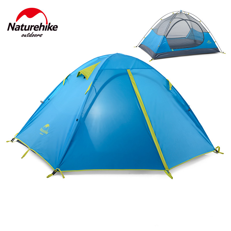где купить Naturehike Factory Store 2 person/3person/4 person family tent outdoor camping hiking 3 Season Double Layer Windproof Tent по лучшей цене