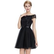 Seksi Siyah Kokteyl Elbiseleri 2016 Yeni Mini Örgün Balo Parti Homecoming Elbise Vestido Cortos Kapalı Omuz Kokteyl Elbise
