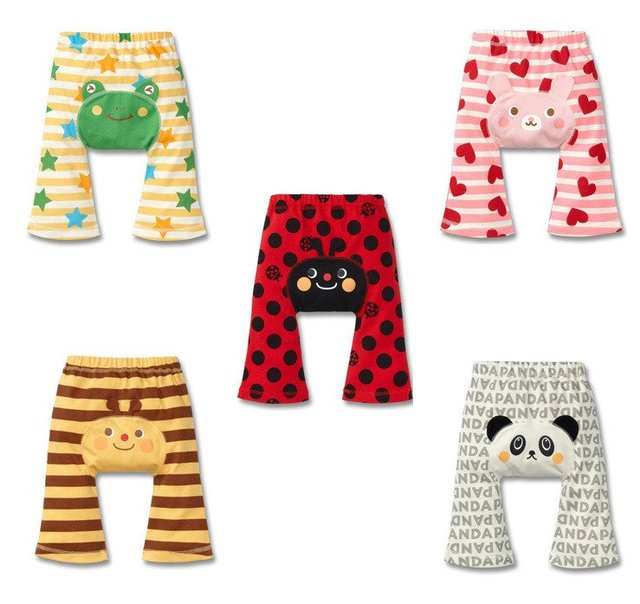Free ship  15pic BabySummer Animals Cotton Trousers Infants Stripe Cartoon Baby Large PP Pants Boy's Girl's Warmers Kids tights