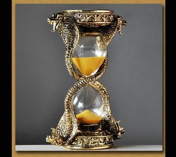 Europe snake shape metal 15 minute hourglass timer home decorative hourglass sand glass clock sand hourglass A35 фото