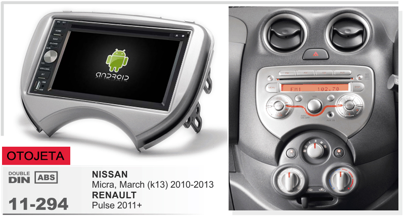 Frame+android 6.0 car dvd for NISSAN MICRA MARCH RENAULT PULSE 2010 2013 multimedia stereo radio tape recorder dvr head units
