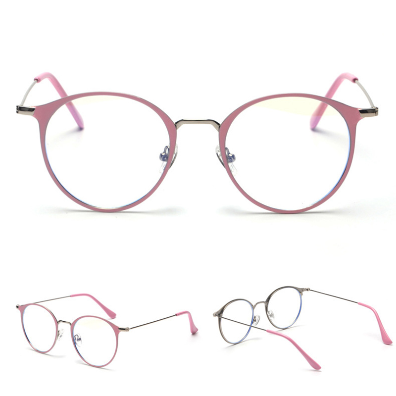 b78122368433d OFIR 2017 Flat Glasses Round Flat Metal Frame Korean Glasses Brand Clothing  Designer Unisex Can Equipped With Myopic Glasses-in Eyewear Frames from  Apparel ...