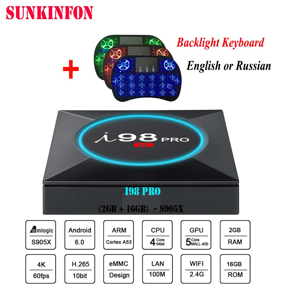 New Model SUNKINFON I98 PRO Smart Android 6 0 font b TV b font font b