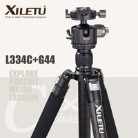 XILETU L334C+G44 Professional Luxury Carbon Fiber Tripod Kit with 44mm Max Diameter Tube/ 25kg Load Capacity/Height up to 187CM
