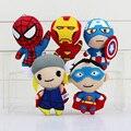 Avengers superhéroes Peluches Batman Capitán América Thor Iron Man Spiderman Superman colgante de Felpa Juguetes Muñecas 11 cm