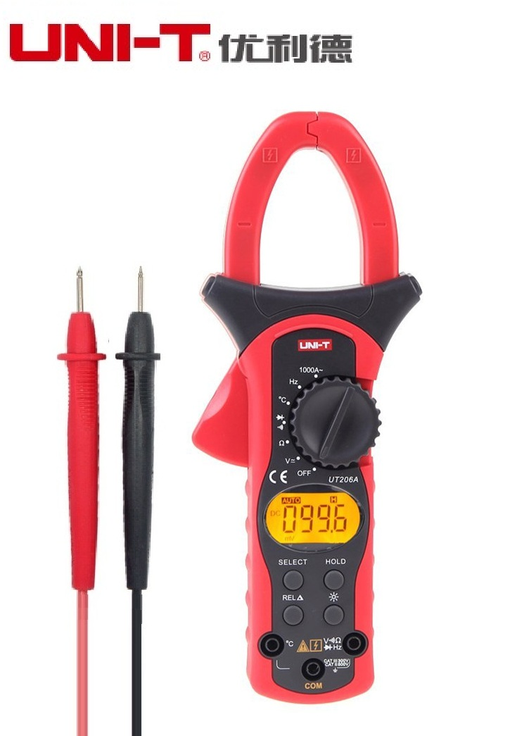1000A Digital Clamp Meter Voltage Current Resistance Insulation Tester Earth Ground Uni t Megohmmeter Multimeter UNI-T UT206A