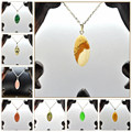 Yumten 12pcs Nature Opal Crystals Stones Amber Pendant Necklace Women Men Charms Jewerly Joyas Zawieszki Sieraden Kettingen