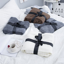 chunky knit weighted blanket for bed sofa cotton soft aircondition throw blankets adult summer Bedspread solid quilt