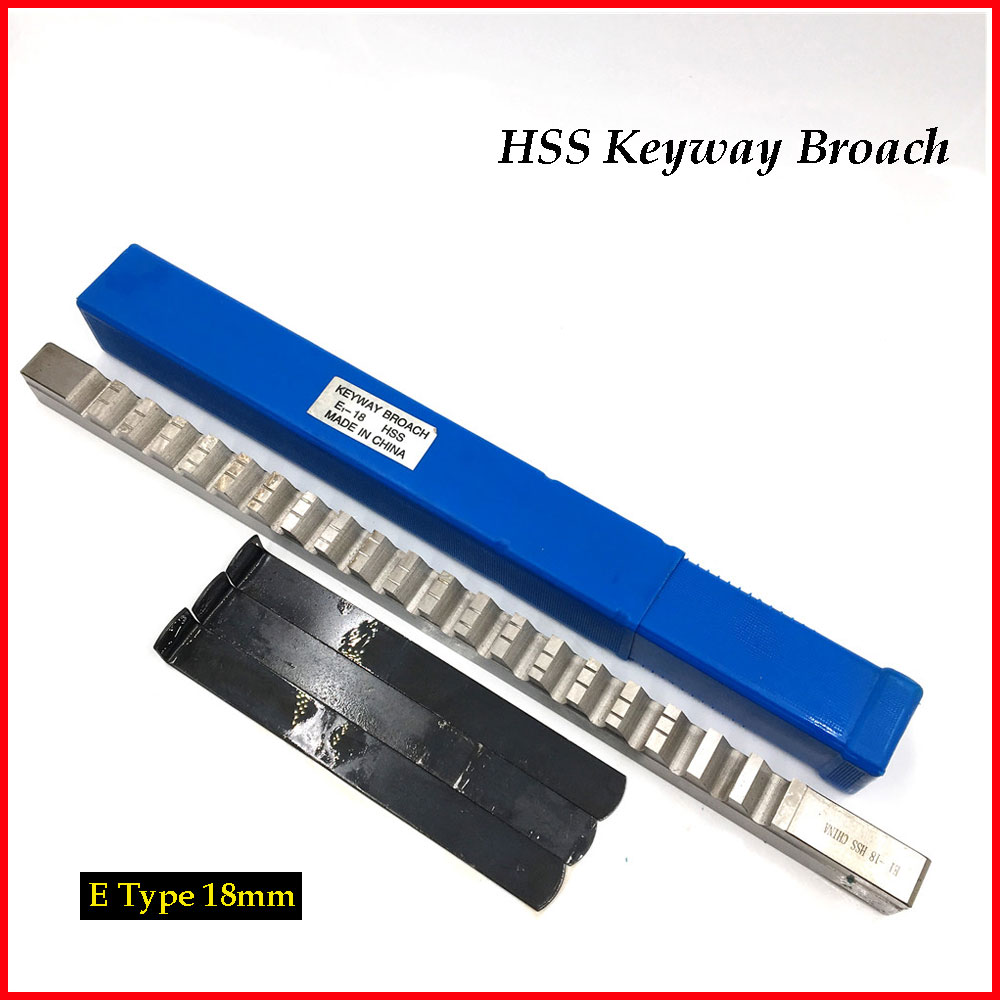 цены 18mm E Push-Type Keyway Broach Metric Sized HSS Broach Cutting Tool with Shim for CNC Machine