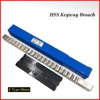 18mm E İtme Tipi Keyway Broach Metrik Boyutlu HSS Broach Kesme Aleti Shim CNC makinesi|Matkap|Aletler -