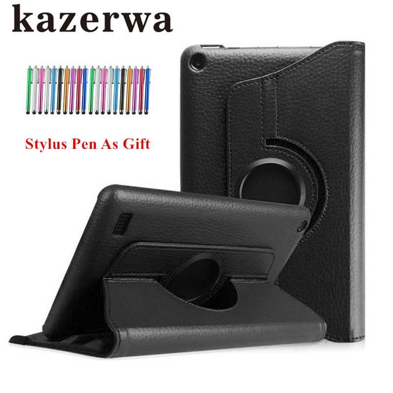 360 Rotation Flip PU Leather Case For Huawei MediaPad T3 7 BG2-W09 Tablet Case Stand Smart Funda Case Folding Folio Cases+Pen