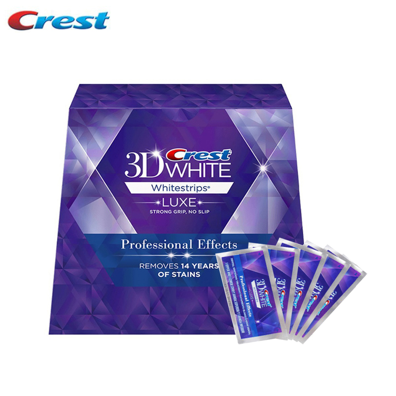 Teeth Whitening Strips Crest 3D White Whitestrips Professional Effects Dental Oral Hygiene Care Products 20 Treaments Genuine 10 pouches crest teeth whitening strips advanced vivid 3d white original oral hygiene tooth whitestrips no box free shipping