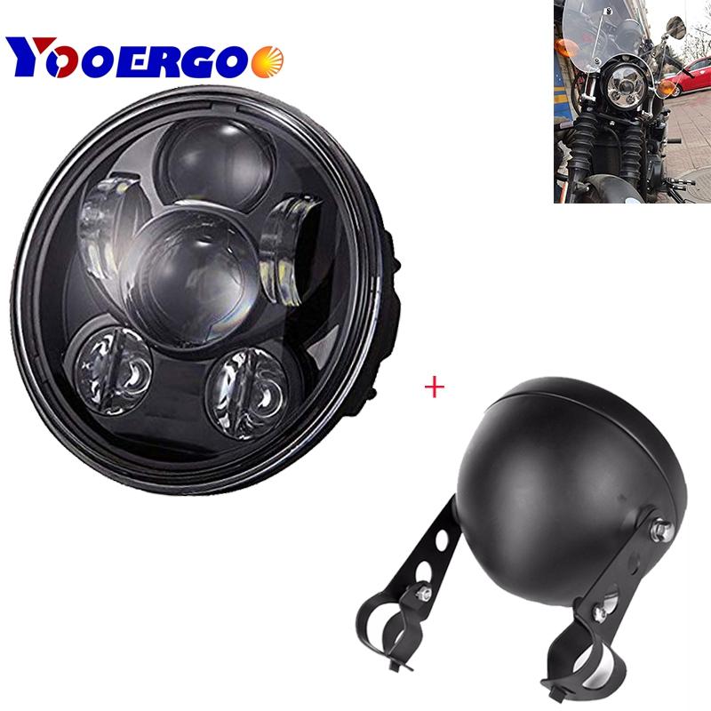 5.75 inch led projector 45w  headlight with White lights For Honda Shadow Aero Phantom VLX 600 750