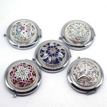 Винтажные серебряные полые карманные зеркальные мини Женские