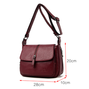 Image 2 - Women shoulder messenger bag sheepskin high quality casual shoulder bags solid zipper colors fashion handbag bag Bolsa Feminina