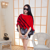 201 New Fashion Dress Coat Sleeve Head Fur Grass Fox Fur Fur Cloak Bianfushan Hem