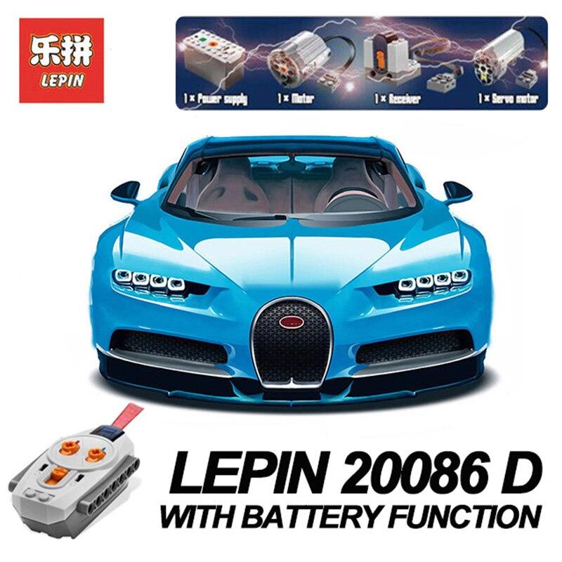 цена на New Lepin 20086D Technic Toys The 42083 Blue Racing Car with Motor Set Building Blocks Bricks Kids Toys Car Model Christmas Gift
