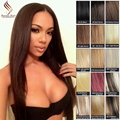 #4 Brown Clip In Human Hair Extensions Virgin Peruvain Hair Silky Straight Remy Human Hair Clip Ins AliExpress Free Shipping