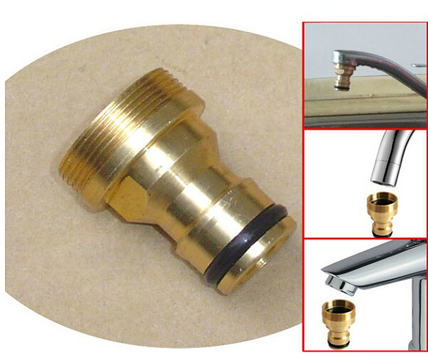 Delightful 2PCS Quick Connector Threaded Hose Outside Tap Water Connector Adapter  Brass Fitting