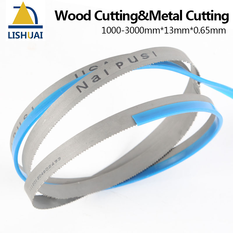 Image 2 - (Length Customized)1000 3000mm*13mm*0.65mm Wood Cutting&Metal Cutting M42 8/12Tpi 6Tpi 14Tpi Bimetal Band Saw Blades-in Saw Blades from Tools