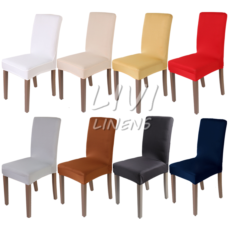 Dining Room Decoration Chair Cover Spandex Fabric Wedding Covers Resterant Hotel Party Banquet Slipcovers