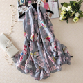 Skull Silk Scarf Women Butterfly Foulard Fashionable Luxury Brand Hot Shawls New 180x90cm [1623]