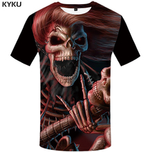 KYKU Brand Skull T shirt Women Devil Plus Size Punk Shirts Clothing Tops Clothes Womens 2018 Sexy Summer New