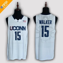 df564f75f971 enrol Uconn Huskies 15 Kemba Walker Basketball Jersey For Men White Blue  2Colors