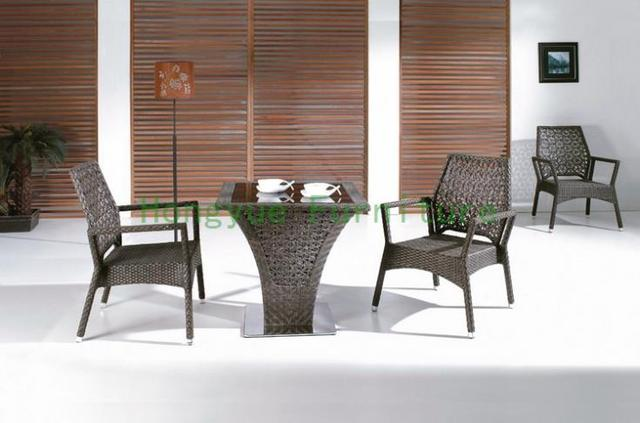 Brown Rattan Bistro Furniture Set,bistro Table And Chair