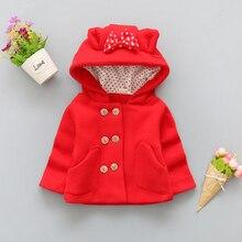 BibiCola/осень-зима детская верхняя одежда Рождественская одежда детские куртки для девочек с бантом куртка с мультяшным рисунком толстовки пальто детские комплекты для девочек