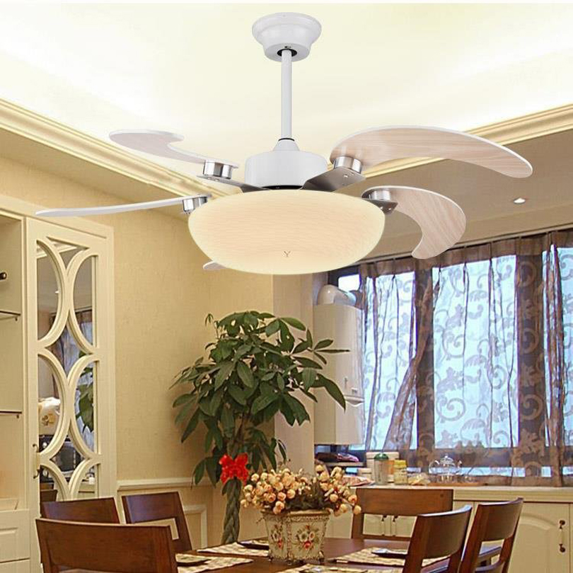 Moderne Ventilatoren illuminacion hanglight plafond ventilator met licht luxe moderne