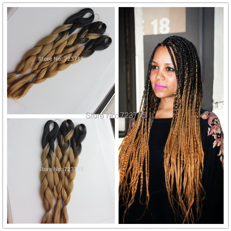 10pieceslot Ombre Braiding Hair 24 100g Xpression