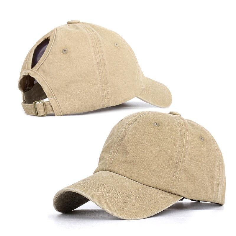 Kraftvoll Frauen Pferdeschwanz Gewaschen Einfarbig Sommer Schatten Verstellbare Weiblichen Frühling Sommer Caps Casual Streetwear Fashion Qualität Kappe