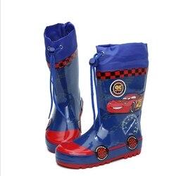 Modne dziecięce gumowe buty przeciwdeszczowe dla dzieci buty przeciwdeszczowe dla chłopców niebieskie buty do wody dla uczniów szkół podstawowych