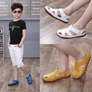 Image 5 - 2020 Summer Childrens Sandals Boy Girls Fashion Genuine Leather Kids Beach Sandals Non slip Casual Sport Sandals Comfortable
