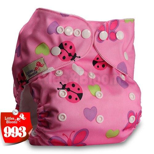 Littles& Bloomz детские моющиеся многоразовые подгузники из настоящей ткани с карманом для подгузников, чехлы для подгузников, костюмы для новорожденных и горшков, один размер, вставки для подгузников - Цвет: 993