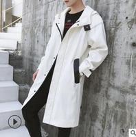 Осень 2018 новые мужские Стиль длинная стильная Плащ корейский стиль модные куртки мужские пальто подростков красивый пальто qz 173