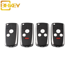 BHKEY 2/3/4/5 Buttons Remote Car key shell Case Fob For Honda HONDA ACCORD CRV CIVIC ODYSSEY Pilot New Style Car keys dandkey 50x new replacement remote key case shell fob 2 buttons for honda accord crv pilot civic without blade key cover shell
